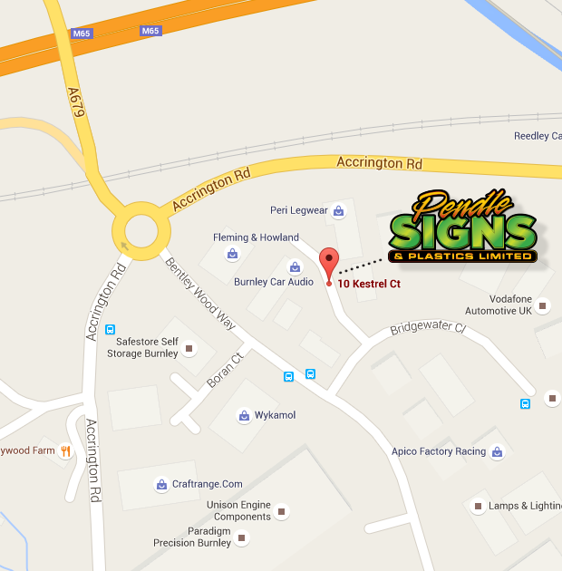 Map to Pendle Signs